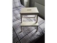 Kitchen stool white chabby chic