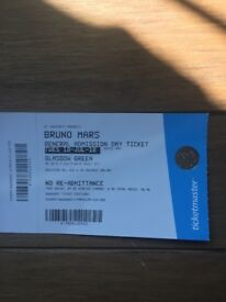 Bruno Mars all day tickets for Glasgow green original price £150 quick sale for £120