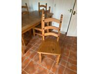 Solid Mexican Pine Chairs