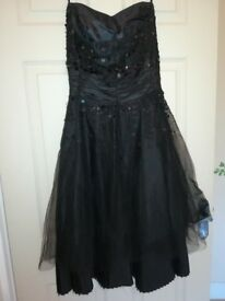 Next black and sequin sleeveless dress size 8