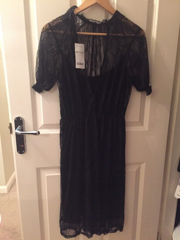 Black dress petite size 10
