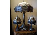 large 2 foot tall tiffany lamp
