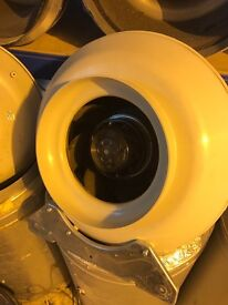 "Cheshunt Hydroponics Store - used 8"" 200mm RVK inline fan"