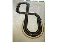 Scalextric Sport Layout with Bridge & Crossover makes 2 Different Designs & 2 Cars