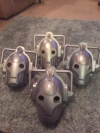 Dr Who cyberman light up and sound masks x4