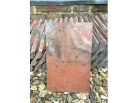 VICTORIAN RED CLAY ROOF TILES - GOOD CONDITION