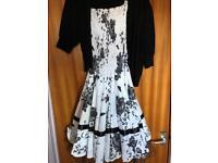 Size 12 dress with cardigan