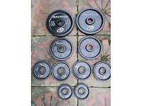 40 kg Olympic cast iron weights NAUTILUS