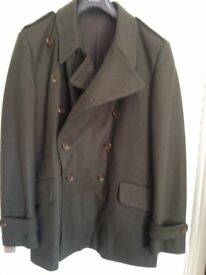 Mens French Connection Pea Jacket Size XL Double Breasted - Lapels & Cuffs & Pockets