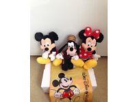 Walt Disney Minnie,Mickey,And Goofy