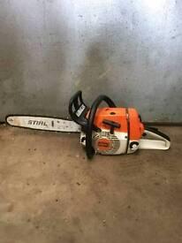 Stihl ms260 chainsaw ground saw