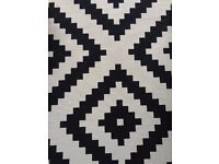 Geometric Black and White 200cm x 300cm Ikea Rug - EXCELLENT CONDITION