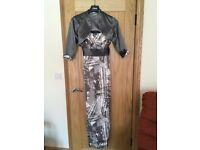 Full length Gina Bacconi dress and shrug bolero