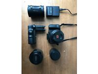Sony Alpha a350 plus various lenses