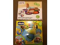 Lamaze spin /explore gym and Chicco tummy pad