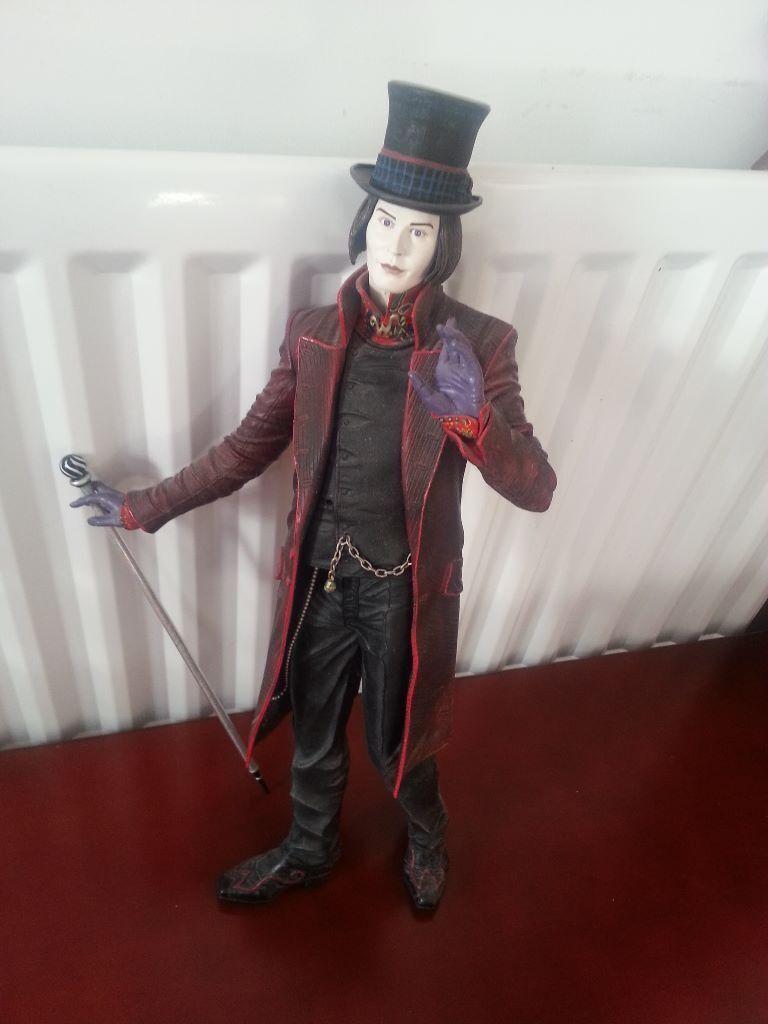 Large Johnny Depp Willy Wonka Talking Figure