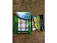 Golf Accessories - Balls, Tees, Golf Towel and Glove