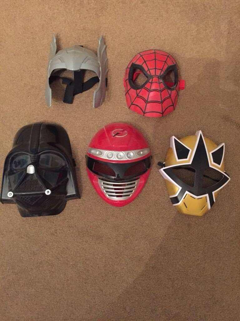5 superhero masks