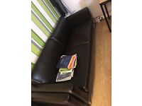 IKEA LEATHER SOFA, ITS IN A VERY GOOD CONDITION £90