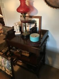 Antique dining room server table.