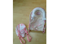 Zapp Creation Baby Annabell sling and carrry chair for use with your baby Annabell doll.
