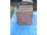 12x Used Weathered Buff Red Paving Slabs