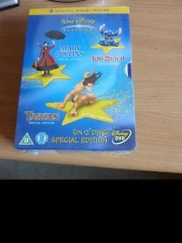 Bulk job lot collection Walt Disney Limited Edition, Special Edition 2 disc DVDs Sealed new (OOP)