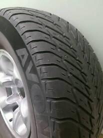 "Mitsubishi shogun spare alloy wheel""and"" tyre"
