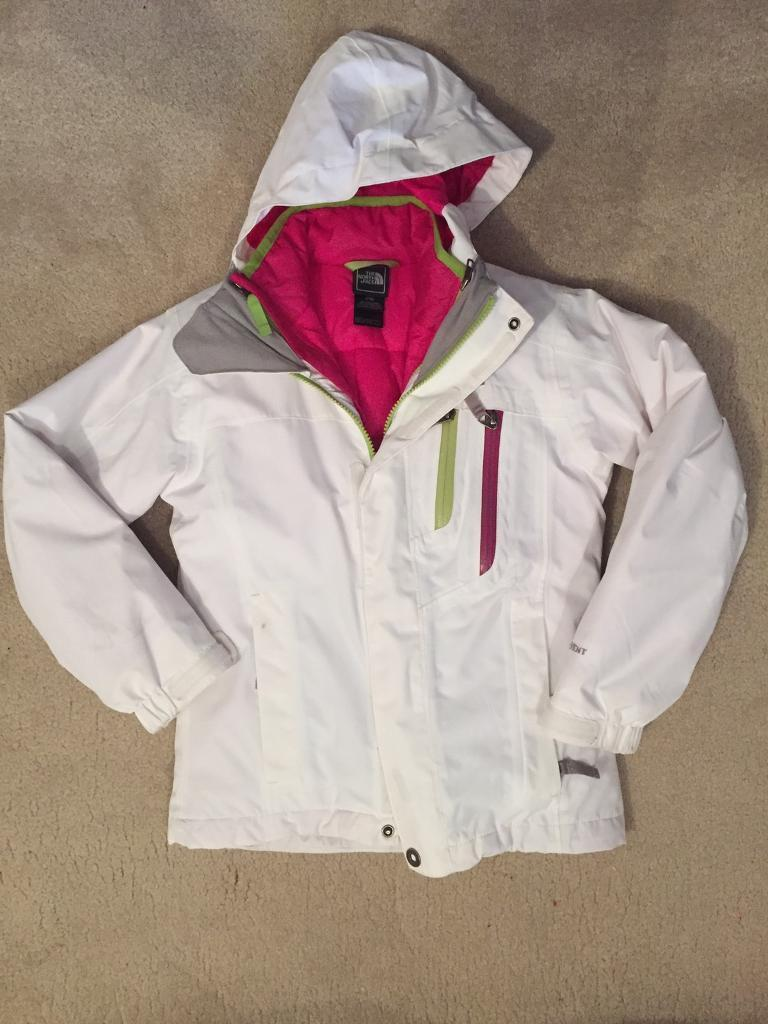 e044477fa Girls White North Face 3 in 1 Jacket Age 7-8 | in Aspull, Manchester |  Gumtree