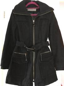 Women Zara Black coat size M ,for size 10-12