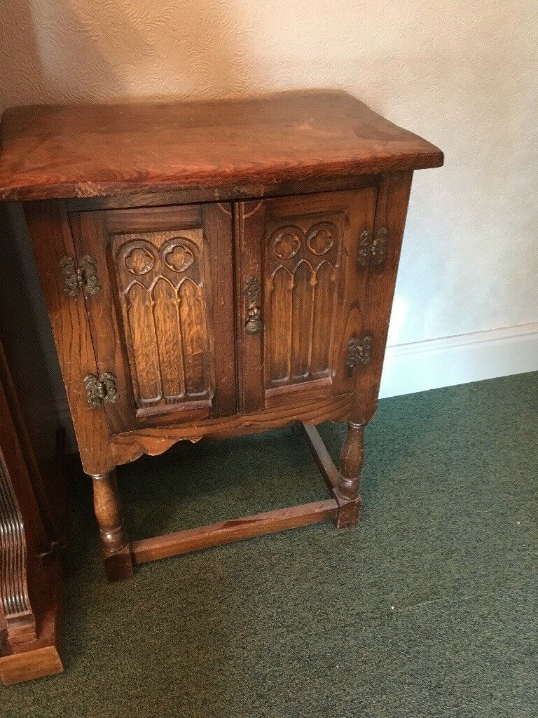Vintage Cupboard Bed Side Table Tele Stand In Newcastle Under  # Photo Table Tele
