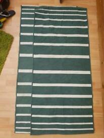 2x Green-White Stripped Runners