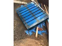 Free wooden blue pallet