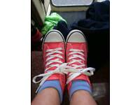 Pair of size 4 converse style shoes
