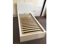 IKEA White Malm Single Bed