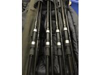 Nash Outlaws 12ft 3lb test curve 4 main rods