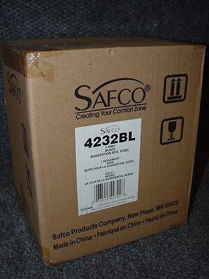 Safco Products 4232bl Steel Suggestion Key Drop Box - Locking