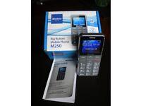 BINATONE M250 BIG BUTTON SIM FREE MOBILE PHONE - BLACK