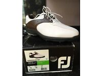 Footjoy greenjoys brown and white boxed NEW size UK 8