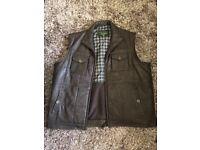 Hidepark leather jacket waistcoat/gilet