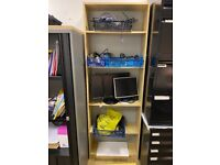 Tall Set Of Wooden Shelves for Office - 194 x 67 x 24 cms