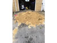 Approx 1 ton loose sharp stone sand