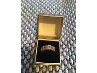 Antique Gold 2 stone Ruby & Diamond Ring