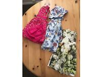 Girls beautiful dresses 9-12 months x3