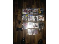PlayStation 3 slim 140gb with remote 1 pad and camera with 14 top games FIFA 16 / GTA 5 / code 3 /