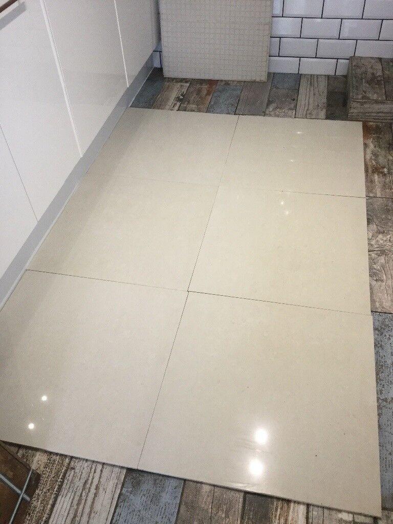 600 X 600 Cream Porcelain Floor Tiles 20 Tiles In Hull East