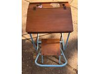 Vintage childs desk & matching chair