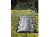 Large Dog Crate with metal base