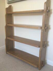 Solid oak bespoke bookshelves