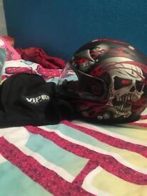 Viper motorbike helmet for sale.